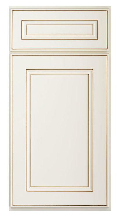 """York Antique White Sample Door - SAMPLE DOOR 12-7/8""""W x 15-7/8""""H"""