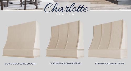 Charlotte - Sloped Wood Hood Unfinished