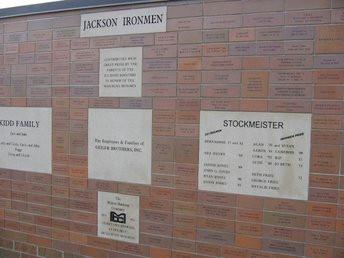 Brick & Limestone Wall