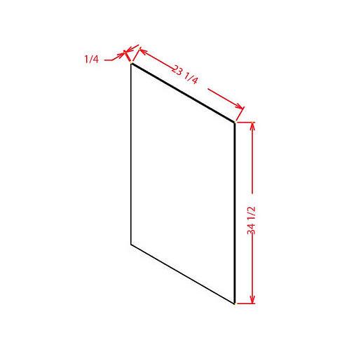 "Charleston Saddle Base Skin Panel - 1/4""D X 34 1/2""H X 23 1/4""W"