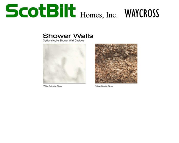 Scotbilt Waycross 2019 - Shower Walls