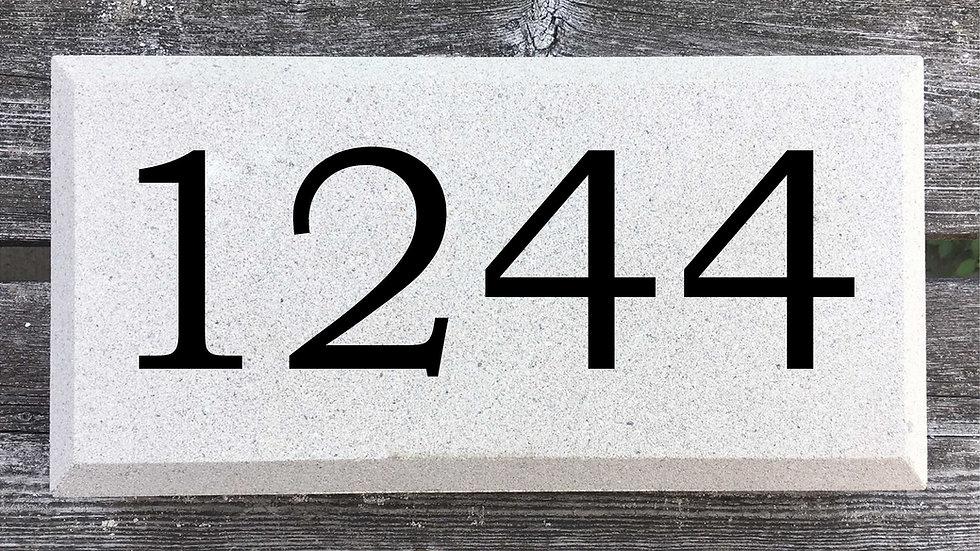 Recessed Edge 12 x 6 x 2 3/4 Bookman Font