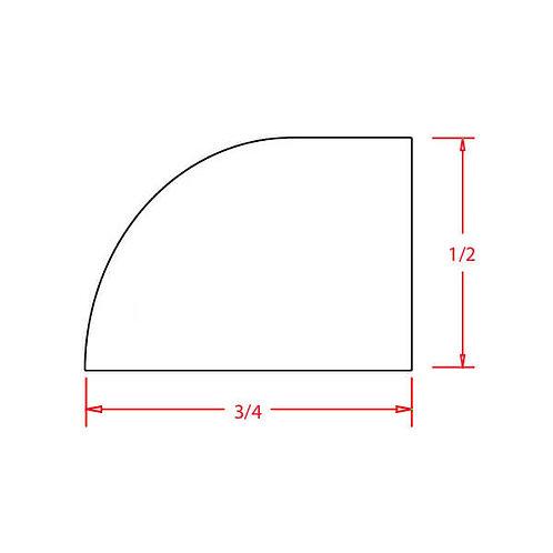 """Shaker Antique White Shoe Molding - 1/2""""D X 3/4""""H X 96""""W"""