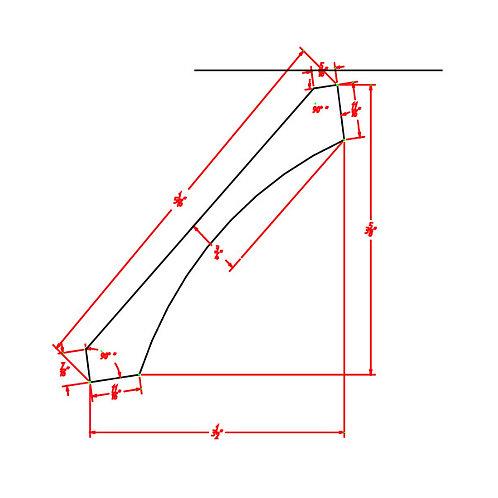 "Shaker Dove Cove Crown Molding - 3 1/2""D X 3 5/8""H X 96""W"