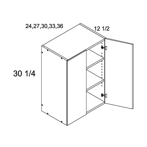 "MADRID GREY WOOD 36""W X 30 1/4""H X 12 1/2""D 2 DOOR WALL"
