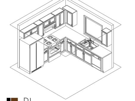 10 x 10 RTA Kitchen Cabinet Layouts