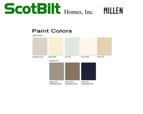 Scotbilt Millen 2019 - Paint Colors