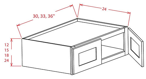 "Charleston Antique White Wall Refrigerator Cabinet - 33""W X 18""H X 24""D-2D"