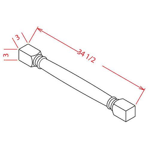 """Shaker Grey Classic Decorative Leg - 3""""W X 3""""D X 34 1/2""""H"""