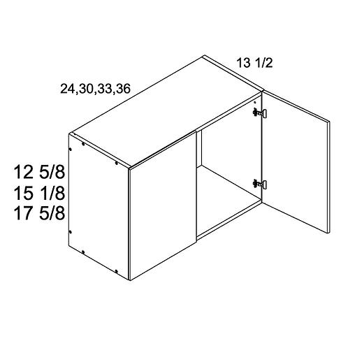 "PALERMO GLOSS WHITE 24""W X 17 3/4""H X 13.5""D 2 DOOR WALL"