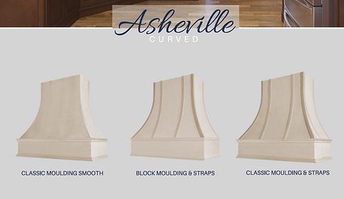 Asheville - Curved Wood Hood Unfinished