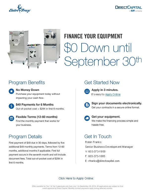 Ice Cream Machines Arizona financing offers