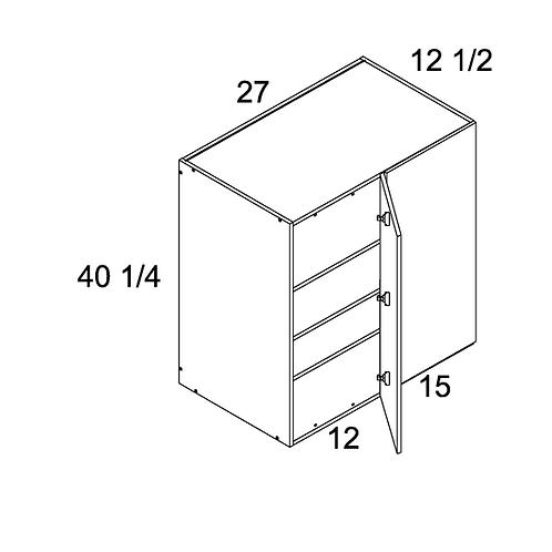 "MADRID GREY WOOD WALL BLIND CORNER CABINET 24""W X 40 1/4""H X 12 1/2""D"
