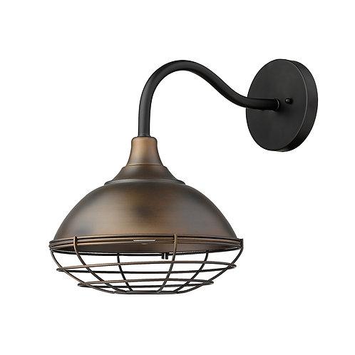 Afton 1-Light Oil-Rubbed Bronze Wall Light