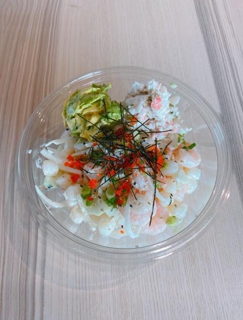 Wasabi shrimp scallops