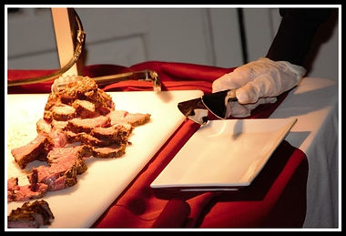Prime rib carving station