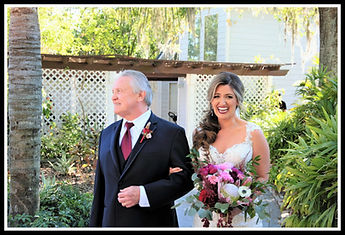 Bride and father at Paradise Cove Orlando