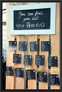 Wedding Decorations - Seating Chart