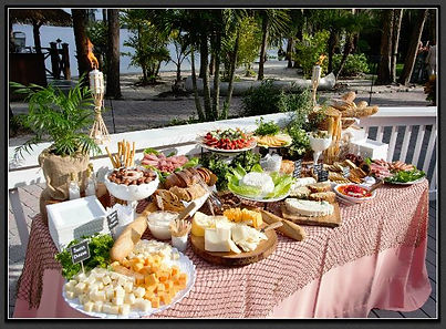 Cheese and Appetizer Table - wedding catering at Paradise Cove Orlando