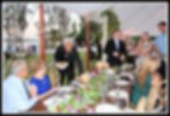 Wedding reception table service