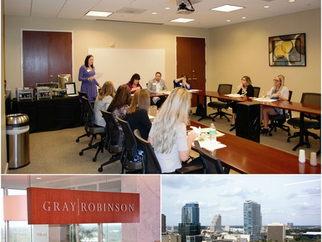 Legal Marketing Association- Sponsored Luncheon Meet - 11.9.17 @GrayRobinson - Downtown Orlando