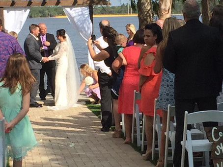 Courtney & Matthew's Wedding at beautiful Paradise Cove in Orlando- Mother's Day, May 14