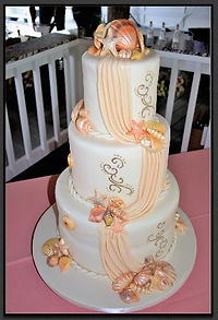 Themed Wedding cake at Paradise Cove Orlando