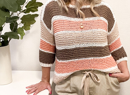 Somerton Sweater- Perfect for Summer