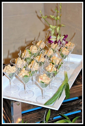 Thai chicken salad appetizer