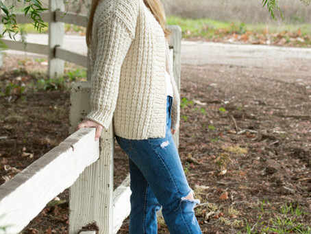 Cottage Cardigan:A quick and easy knit!