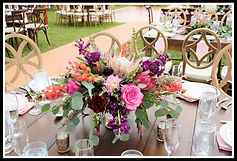 Beautiful wedding table flowers