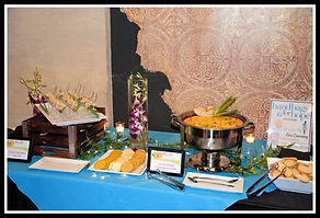 Appetizer station charity event