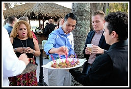 Appetizer service - gay weddings at Paradise Cove Orlando