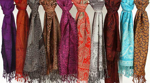 Colour Wovens scarves