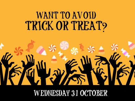 Avoid Halloween, enjoy a banquet menu for £14.95 instead!