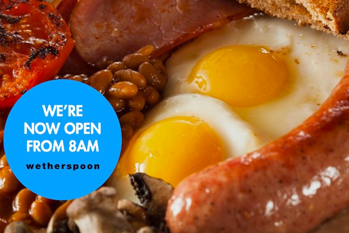 Wetherspoon - Breakfast & Early opening launch