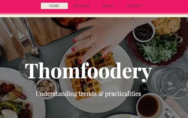 Thomfoodery Branding & Website