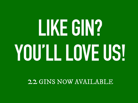22 GIN'S NOW BEING SERVED BY US