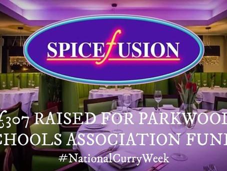 WE RAISED £307 FOR PARKWOOD SCHOOLS ASSOCIATION FUNDS!