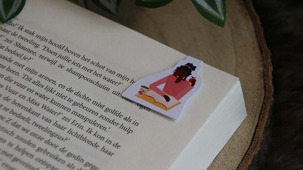 Apples and Books Magnetic Bookmark