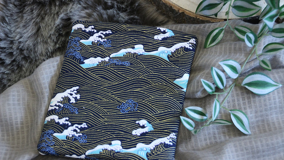 Gold and Blue Waves Booksleeve