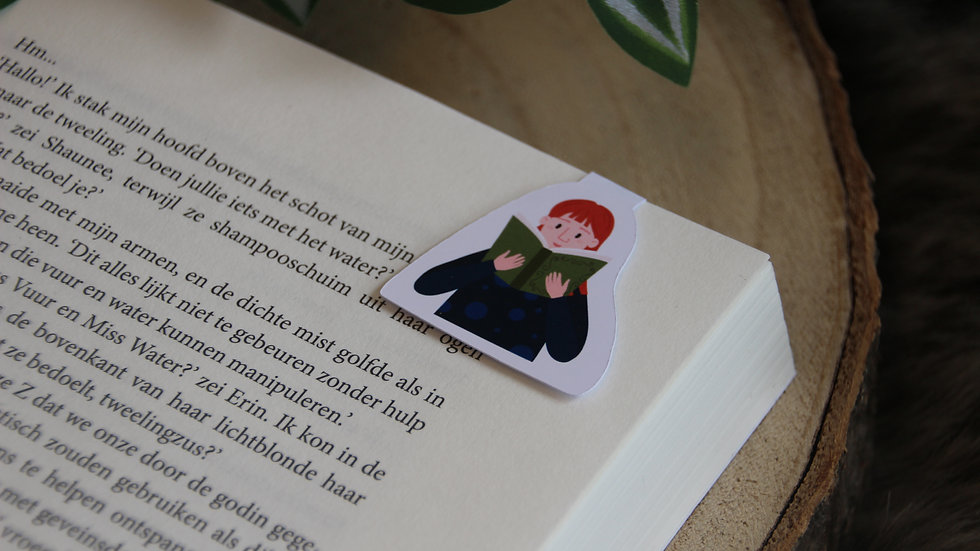 Nose in a Book Magnetic Bookmark