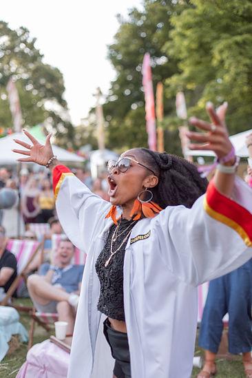 Gospel choir singer at Soho House Festival