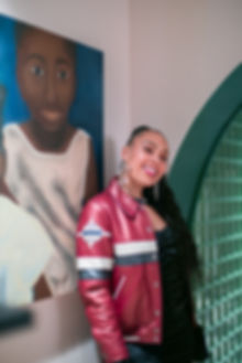 Izzy Bossy of BossyLdn at The Wing London launch party