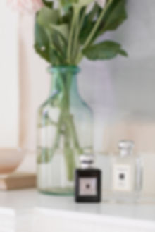 Poppy and Barley fragrance still life lifestyle shoot on mantlepiece