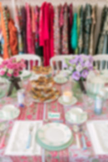 Pink tablescape styled by Lay London with Dash drinks and Flowerbox flowers at Hurr