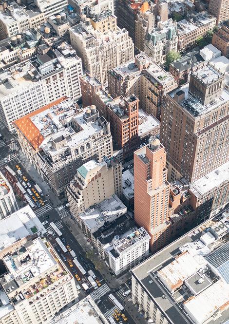 Rooftops. New York.