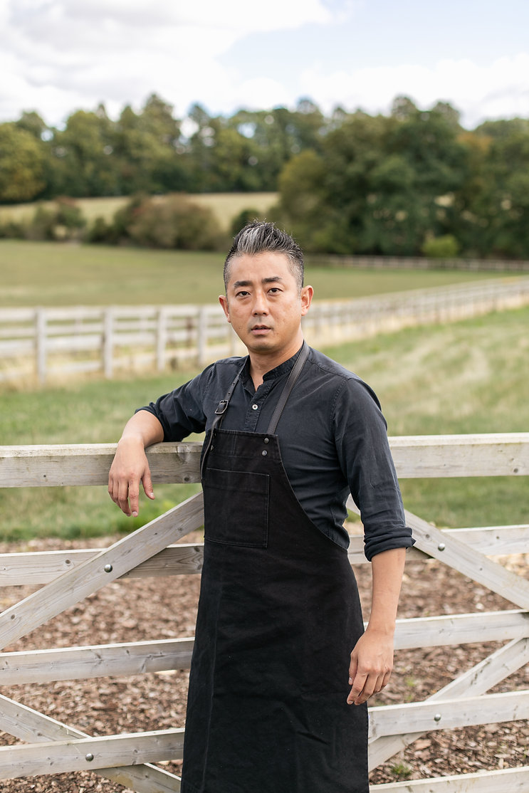 Tokyo wagyu beef chef Kentaro Nakahara at Soho Farmhouse Food Summit