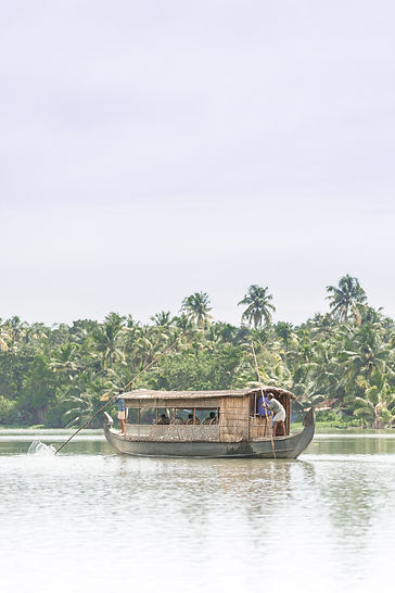 Houseboat cruise on Kerela backwaters in India