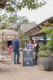 Courtyard food market at Soho Farmhouse in Cotswolds Oxfordshire
